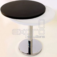 Round table (chrome leg)